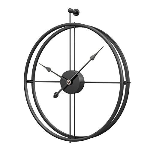 Jo332Bertram Vintage Wanduhr, XXL Groß Wanduhr Uhr Metall Ohne Tickgeräusche Dekorative Wanduhr für Küche Wohnzimmer Büro (Schwarzer Zeiger)
