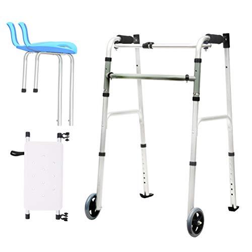 Standard Gehhilfen Mit Armlehne, Rollator Gehgestell Zusammenklappbare Leichtmetallräder, Unterarmstütze Ältere Menschen Männer Und Frauen, 2 Räder