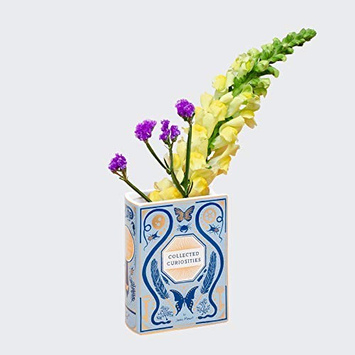 Bibliophile Ceramic Vase: Collected Curiosities Illustrated by Jane Mount