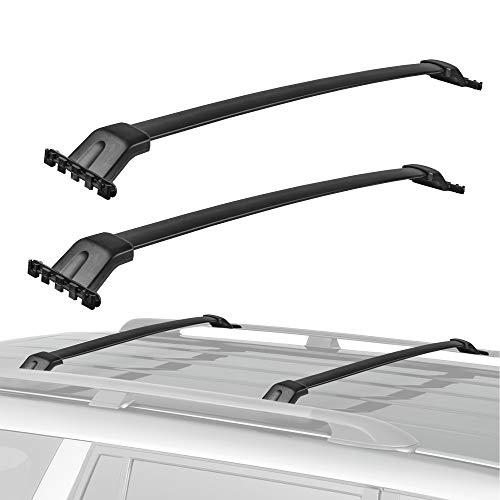 MOSTPLUS Roof Rack Cross Bar Rail Compatible for Honda Pilot 2009-2015 Cargo Racks Rooftop Luggage Canoe Kayak Carrier Rack