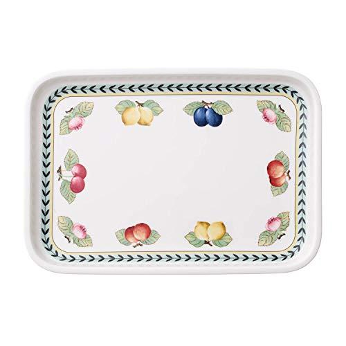 Villeroy & Boch French Garden Plat de service, 32x22 cm, Porcelaine Premium, Blanc/Multicolore