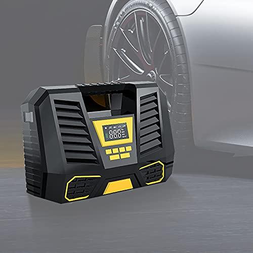 Compresor Aire Coche,Compresor Aire portatil,Bomba de Aire Portátil, Compresor de Batería Digital Portátil con Sensor de Presión, para Scooters, Motocicletas, Bicicletas, Automóviles, Pelotas