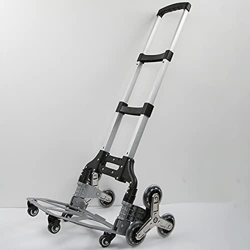 Bruryan Carro de Equipaje Plegable - Carro de Equipaje Plegable portátil Carro de Mano Pesado Transporte Carro de Remolque de Compras con 1 Paquete de Tornillos de Montaje 1 Pieza de Cuerda elástica