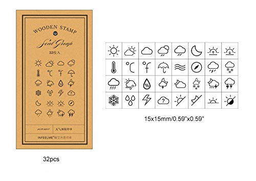 Cliocoo 10pcs Rubber Stamp Set M-68