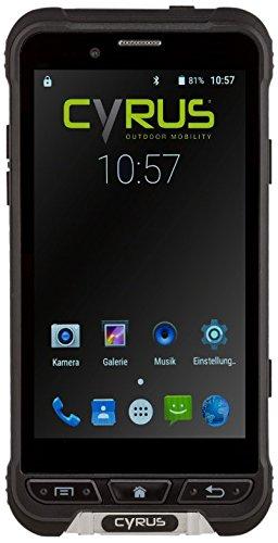 Cyrus CYR10090 Outdoor Smartphone CS35 LTE Dual SIM Stoßsicher, staubgeschützt, wasserfest, 3GB RAM, 32GB ROM, 13MP Kamera schwarz