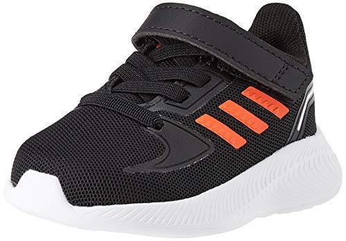 adidas RUNFALCON 2.0 I, Scarpe da Ginnastica, Core Black/True Orange/Ftwr White, 26 EU