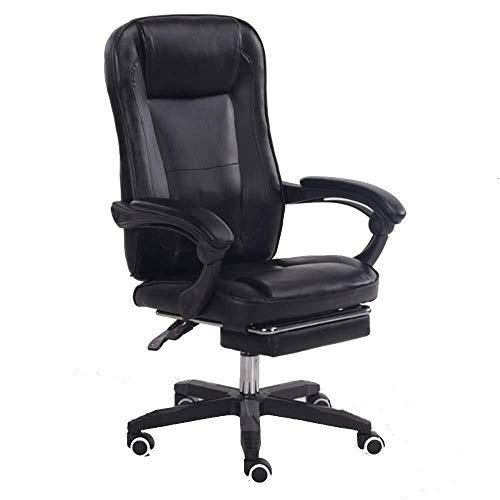 Sillas Gaming Silla Sillones Ordenador comodo sedentario Inicio Juego E-Sports giratoria Levante Jefe Oficina Lazy (Color : Black)