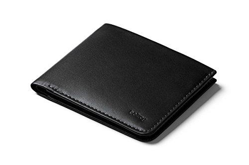 Bellroy Square Wallet, portafoglio sottile in pelle (max. 12 carte e banconote stese) Black