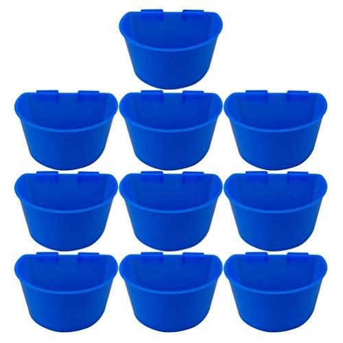 YARNOW 10 Stück Plastiktrinker Soda Pop Wasserflasche Feeder Tasse Huhn Wachtel Tauben Feeder Schüssel Tierfütterung Zubehör 11X7. 4Cm