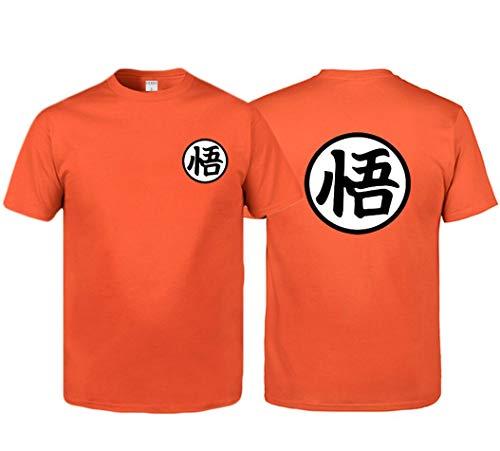 Sudaderas de Dragon Ball: Camiseta de Dragon Ball Goku Camiseta con símbolo de Entrenamiento Camiseta Casual para Hombre