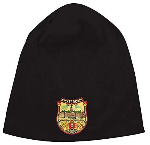 Amsterdam Holland Royal Palace Retro Graphic Jersey Beanie Hut Dünne Slouch Cap Unisex One Size