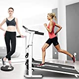 Tengma Folding Running Treadmill, 3-in-1 Multifunctional Manual Treadmill Walking Jogging Cardio Fitness Exercise Incline Machine Silent Shock Absorption Treadmill from Overall to Partial
