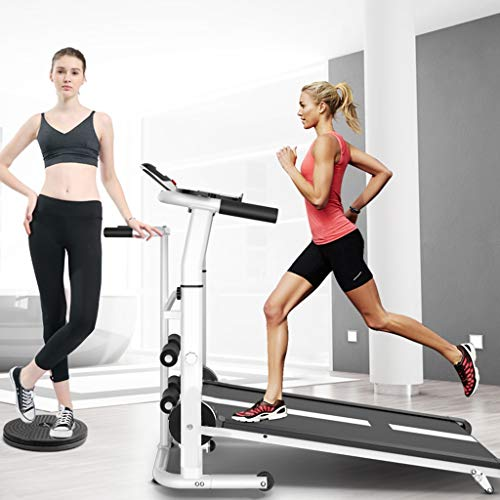 Buy Discount 4-in-1 Mechanical Treadmill w/ Mechanical Treadmill, Sit-ups Pannel, T-wisting Machine,...
