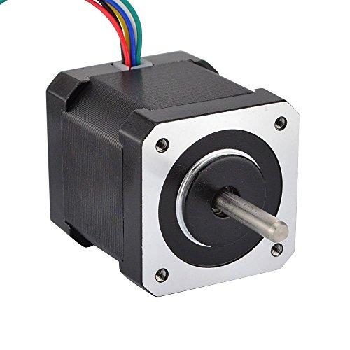JoyNano Nema 17 Motor paso a paso bipolar 1.7A 59N.cm Par de mantenimiento 2 fases 4 hilos 1.8 Deg 48mm Cuerpo para impresora 3D o máquina CNC