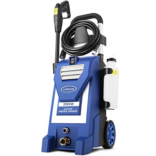 3800PSI Electric Pressure Washer,3.0GPM Electric Power Washer 2000W High Pressure Washer for Cleaning Cars Houses Driveways Fences Patios Garden (Blue)