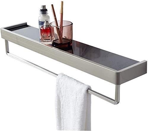 AINIYF Baño Plataforma de baño Ducha Organizador montado en la Pared de la Torre-Percha ponche Cuenca de Acero Inoxidable Libre WC 1 Niveles (Color: 400x120mm)