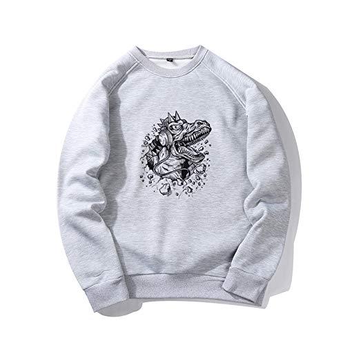 Herbst/Winter Herren Round Neck Casual Loose Pullover Bedruckter Pullover