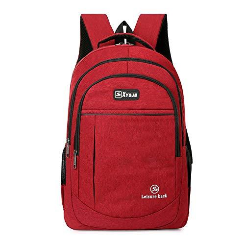 BAACD mochila portátil mochila escolar para niños estudiantes jóvenes viajes hombres mujeres universidad estudiante de secundaria impermeable bolsa de regalo mochila negro gris azul-red