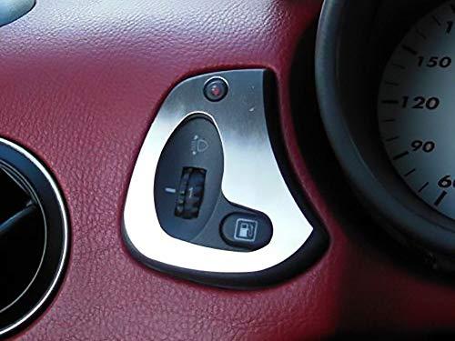 Copertura In Acciaio per Alfa_Romeo GTV & SPIDER (916) - 2 Pezzi Regolatore altezza fari Targa Inox Metallo Spazzolato Interni Fatto Su Misura Decorazioni Tuning Accessori