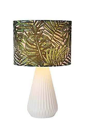 Lucide SERENOA - Lámpara de mesa (diámetro 25 cm, 1 E14, color blanco