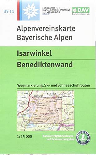 Isarwinkel, Benediktenwand: Wegmarkierung, Ski- und Schneeschuhrouten: mit Wegmarkierungen, Ski- und Schneeschuhrouten (Alpenvereinskarten)