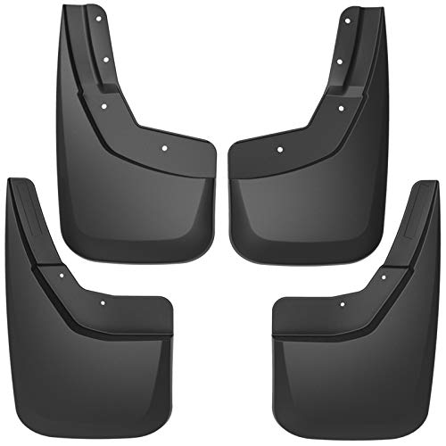 Sizver NO-DRILL Mud Guards Flaps Splash Guards Molded Front/&Back For 2014-2018 Chevy Silverado 1500 OE style