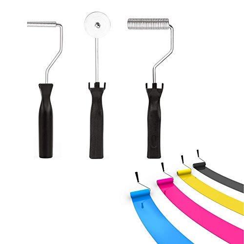 Atyhao - Juego de 3 rodillos de fibra de vidrio y burbujas, kit de bricolaje, moldeo para FRP de resina compuesto, decoración del hogar