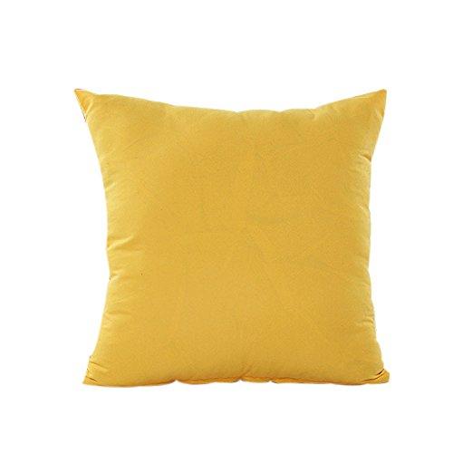 DEELIN Haute Qualité Maison Canapé Voitures et Chaises Décor Couleur Solide Taie d'oreiller Coton Lin Couverture de Coussin