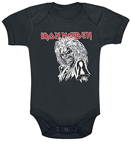 Iron Maiden Eddie Killers Graphic Cut Unisex Body Negro 68/74, 100% algodón,