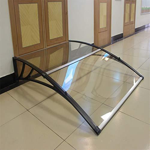 Transparante zonnebrandwerende luifel, aluminiumlegering beugel zonnescherm balkondeuren en ramen polycarbonaat luifel - grootte optioneel