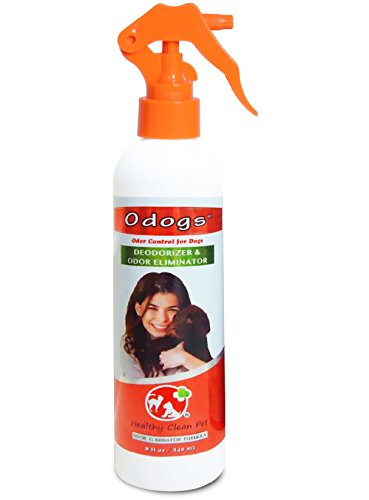 Odogs Dog Deodorizer Spray – All Natural Odor Eliminator & Odor Control for Dogs – 8 oz by Healthy Clean Pet