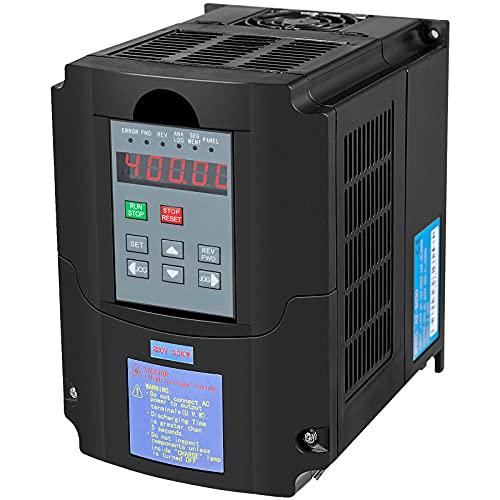 VEVOR 3 KW Frequenzumrichter VFD Frequenzumrichter 220V Wechselrichter für Drehmaschinen Fräsmaschinen LKW Krane Pumpen und Förderer