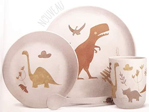Label Tour, - Vajilla de material vegetal para niños, diseño de dinosaurios