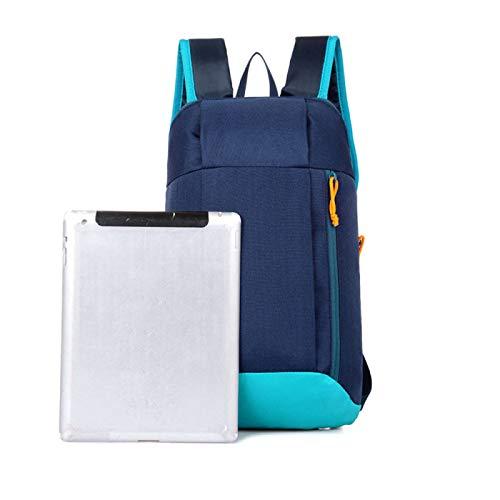 REBKW Mochila deportiva unisex para senderismo, mochila de viaje, para hombres y mujeres, mochila de colegio, mochila de ocio al aire libre, gran capacidad (azul, Estados Unidos)