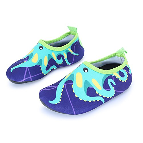 L-RUN Baby Swim Shoes Barefoot Skin Shoes Athletic Sports Water Shoes Purple 5-5.5=EU20-21