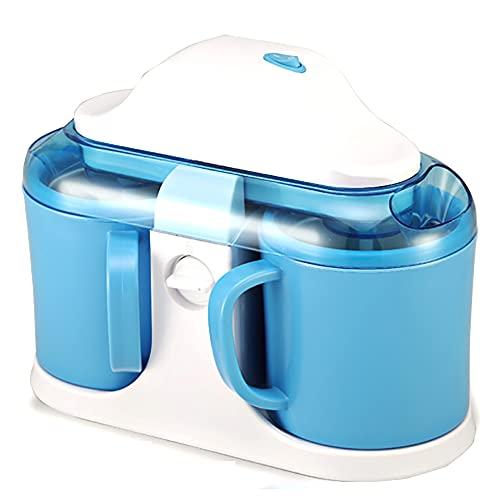 EYCIEROT Máquina De Helado De Cubeta Doble Automática para Hacer Helado Enfriamiento De Gelato Dulce Máquina De Yogur Helado Máquina De Crema De 15 Minutos