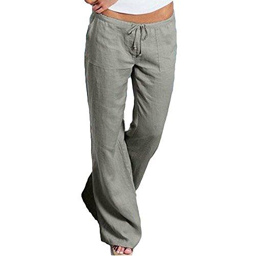 huateng Pantaloni Sportivi Morbidi Pantaloni Comodi in Cotone, Pantaloni Casual da Fitness Pantaloni con Coulisse Lunga Moderna