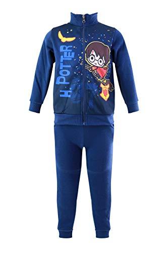 Characters Cartoons Harry Potter – Chándal deportivo para niño – Sudadera y pantalón – Otoño Invierno Azul Navy 404 3 años
