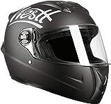 Westt Storm · Casque Moto Intégral en Noir Mat pour Scooter Chopper · Casque de Moto Homme et...