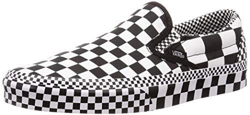 Vans Mens U Clasic Slip ON Checkerboard Black White Size 5