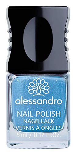 alessandro Nagellack Seaside/Northern Beauty Kollektion - langanhaltender Nagellack in funkelndem Blau, 5 ml