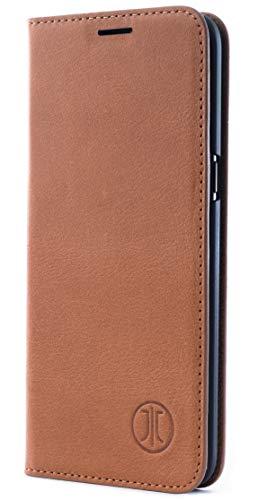 JT Berlijn hoes, Samsung Galaxy S10, BookCase Tegel - cognac
