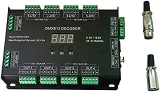 32CH RGBW DMX512 Decoder 8 Bit/16 Bit RGBW LED Controller 32 Channels Driver RGBW LED Strip Light DIM / CT / RGB / RGBW Controllder DC5V-24V