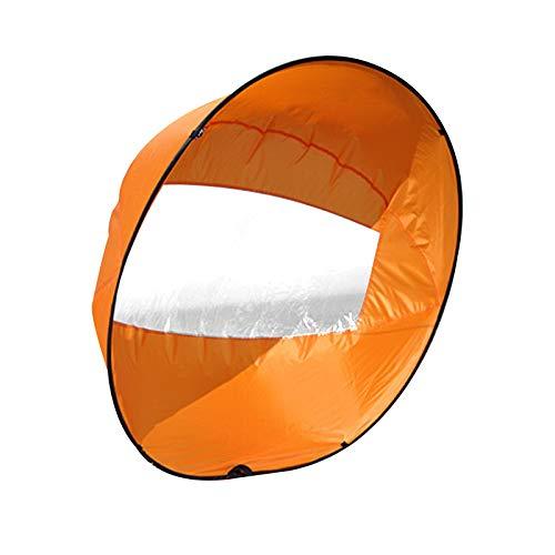 Exnemel 42 Zoll Kajak Windsegel Paddel, Kajak Windsegel Wind Paddel für Downwindow Paddle Board, Rudern, Windsegel (Orange)