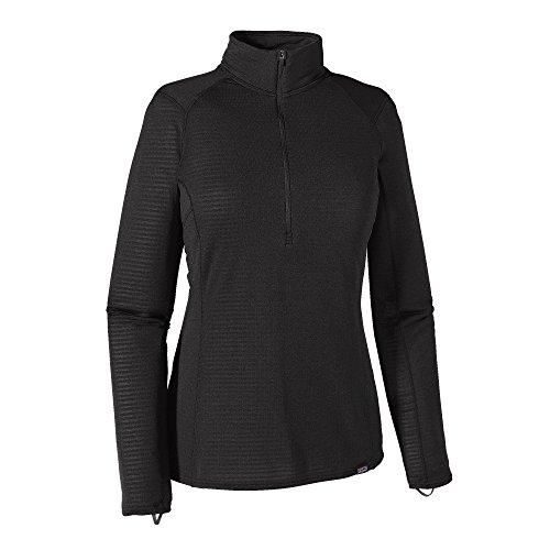 Patagonia W's TW Zip Neck T-Shirt intérieur, Femme L Noir