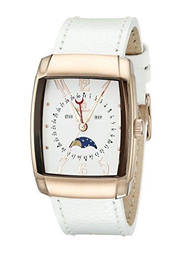 Burgmeister Armbanduhr für Damen mit Analog Anzeige, Quarz-Uhr und Lederarmband - Wasserdichte Damenuhr mit zeitlosem, schickem Design - klassische, elegante Uhr für Frauen - BM612-386 Peoria