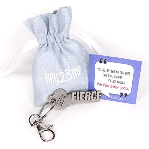 key2Bme Fierce Key - Claw Keychain & Inspirational Quote - The Cute Cool Fun Unique Small Gift Under $10 for Giving Kids Teen Friend Girl Strong Independent Women Dancer Cheerleader Musician
