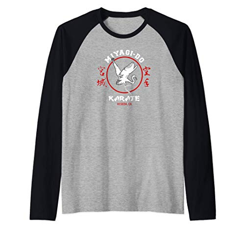 The Karate Kid Miyagi-Do Karate mit Crane 2 Farbe Raglan
