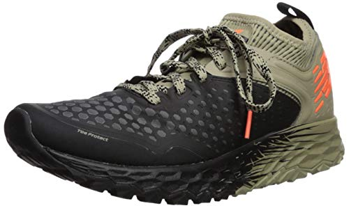 New Balance Men's Hierro V4 Fresh Foam Trail Running Shoe, Black/Trench/Alpha Orange, 10.5 D US