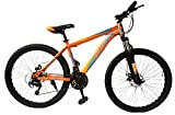 Siyibo Road Racing 26T 21Gear Speed Front Shocker & Dual Disc Brake Bicycle, Orange Age 13+ Years